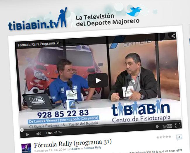 Vídeo Fórmula Rally (programa 31)