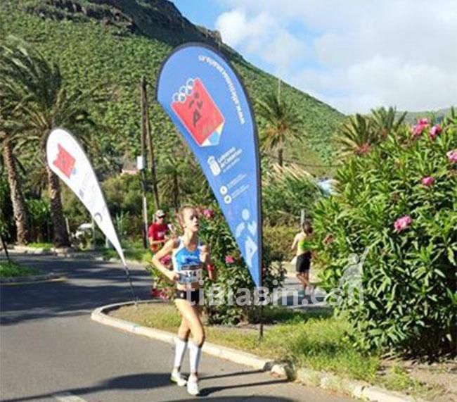 La majorera Thala Sancho Campeona de Canarias cadete en marcha atlética