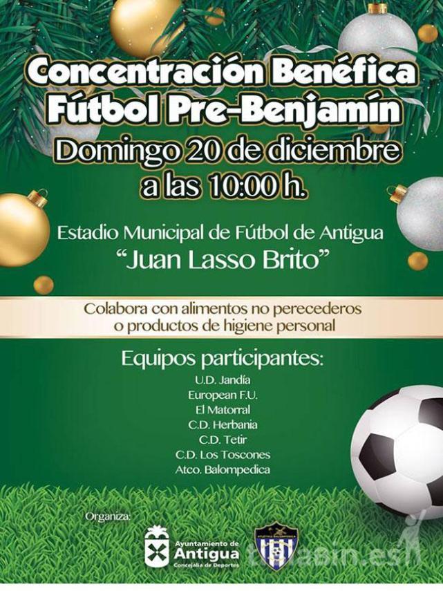 Antigua organiza la Concentración Benéfica Fútbol Pre-Benjamín
