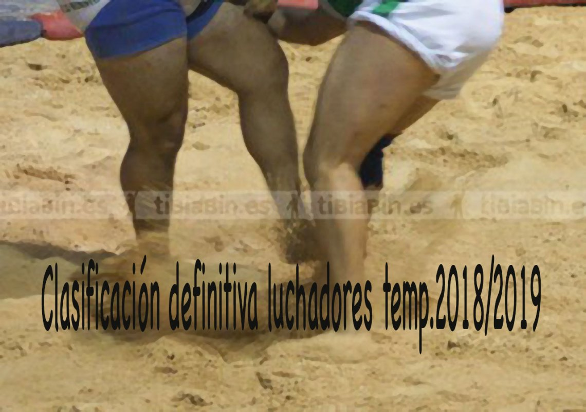 Clasificación definitiva Luchadores Temp.  2018 – 2019
