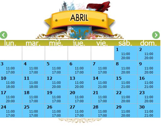 Horarios CAMÍ DEL CEL abril 2017