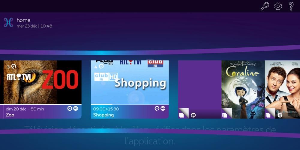 proximus tv la nouvelle application sur smartphone et tablette. Black Bedroom Furniture Sets. Home Design Ideas