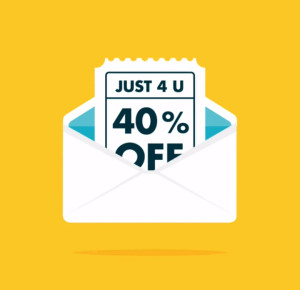 email coupons, discount,