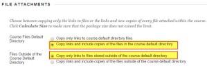 File Attachments - Blackboard Export