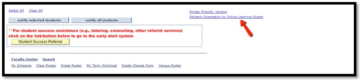 Student Orientation Link location on SURF