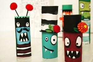 reciclando tubos de cartón