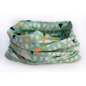 Cuello braga triángulos verde