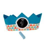 Corona aniversario azul