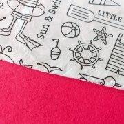 Combinación Fucsia con estampado para colorear