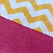 Combinación Fucsia con zigzag grande