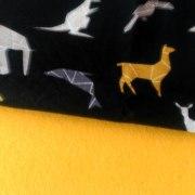 Combinación Amarillo y estampado de animales sobre negro