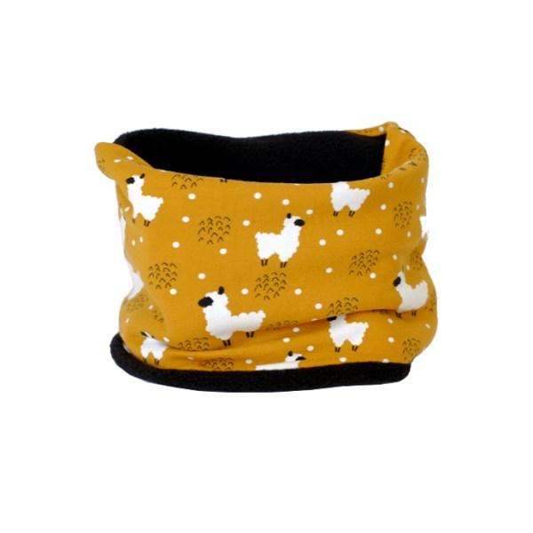 Cuello polar tipo braga, ideal para proteger el cuello del frío en invierno
