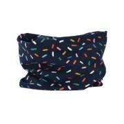 Cuello de entretiempo de confeti de colores y azul