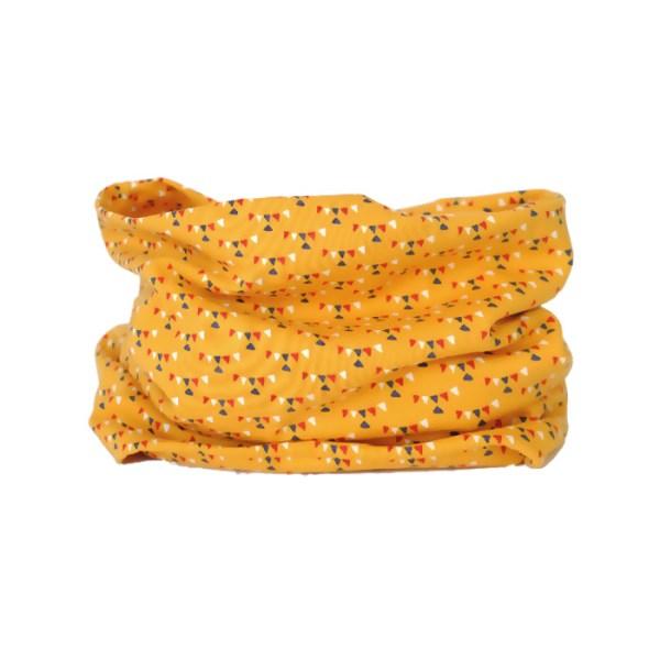 Cuello de entretiempo con guirnaldas en amarillo