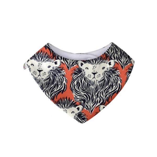 Babero quita-babas, tipo bandana absorbente con estampado de leones