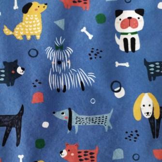Estampado Mascotas Azul