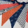 Guirnalda decorativa de tela de biciletas