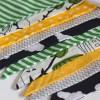 Guirnalda decorativa de tela Pájaros en b/n y verde