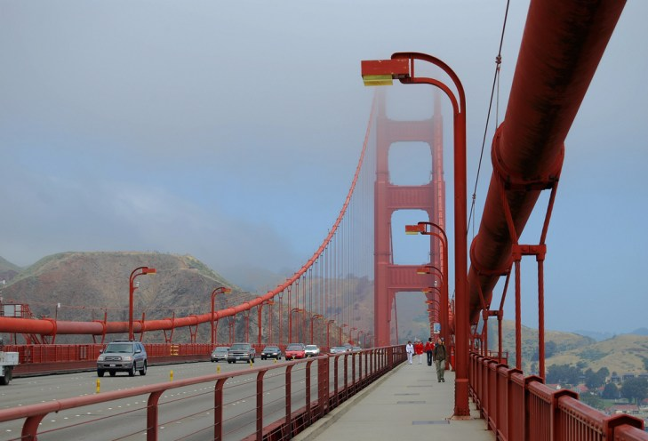 walking the golden bridge