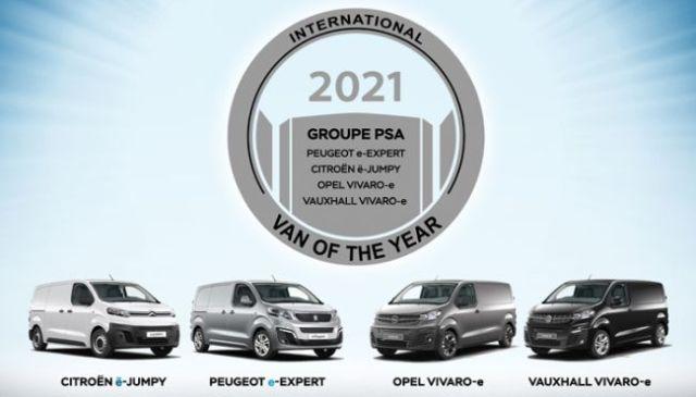 """PSA Dörtlüsü, Van Sınıfında 2021 """"Yılın Uluslararası Vanı"""" (IVOTY) Ödülünü Kazandı"""