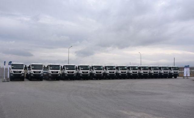 İŞKAYA İnşaat, 2021 yatırımları kapsamında filosunu 35 adet MAN kamyon ile güçlendirdi