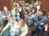 1990s office reacting to OJ Simpson verdict