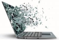picture of exploding laptop