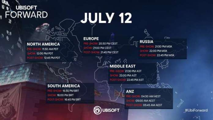 Ubisoft Forward Schedule