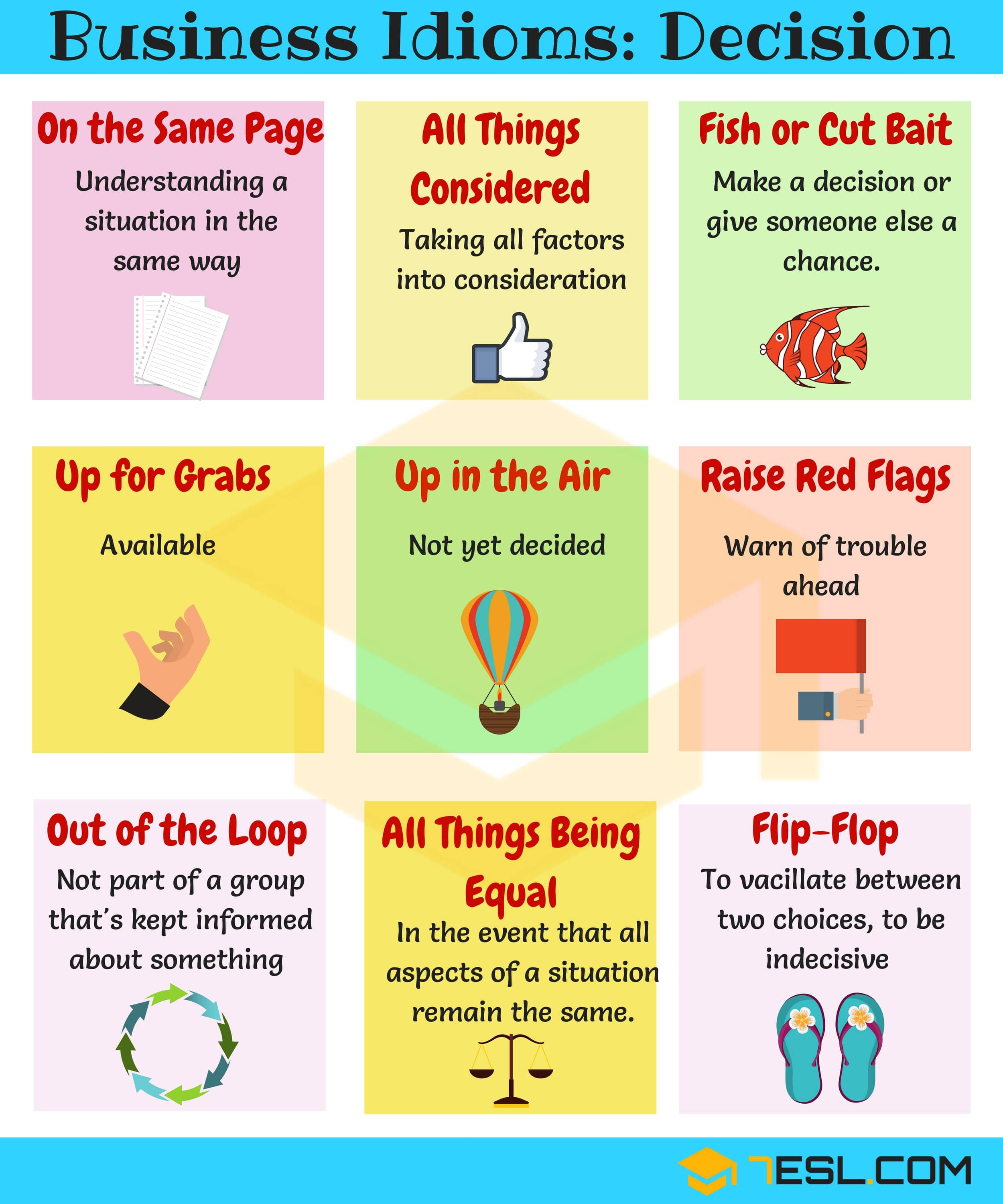 15 Useful Business Idioms For Making Decisions