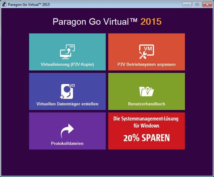 Paragon Go Virtual 2015 free license