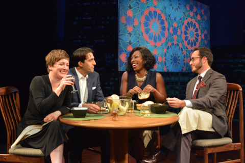"From left, Lee Stark, Dorien Makhloghi, Bianca LaVerne Jones and Jordan Ben Sobel in Asolo Rep's production of ""Disgraced."" GARY W. SWEETMAN PHOTO/ASOLO REP"
