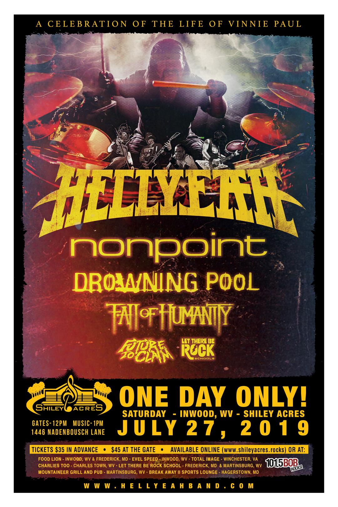 Hellyeah Summer Tour 2019 Tickets In Inwood Wv United States