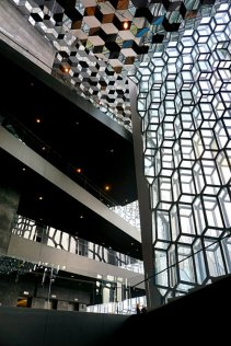 Harpa Building, view from inside