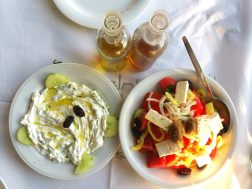 George Tavern - Greek Salad and Tzatziki