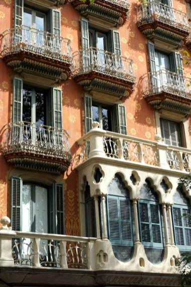 Barcelona Building with balconies