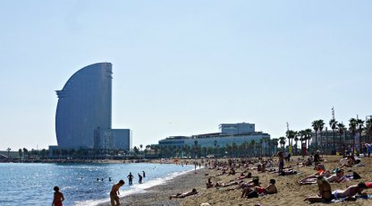 W Hotel Barcelona beach view