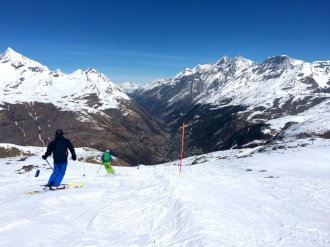 Zermatt ski resort and Swiss Alps