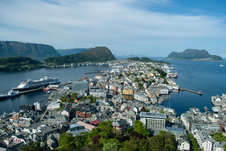 Alesund city panorama