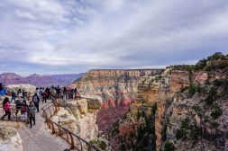 Grand Canyon South Rim - Mather Point tourists
