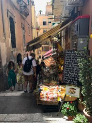 Street shops in Taormina