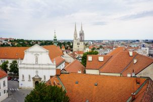 Zagreb city view from the tower