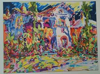 Abstract Scene of a House