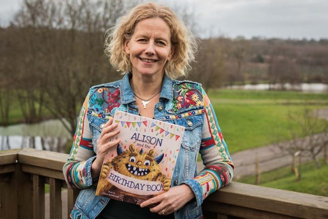 alison and the birthday boo book