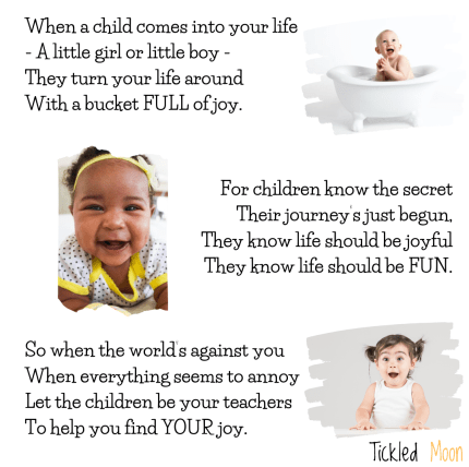 Peachy Poetry on the Joy of Children