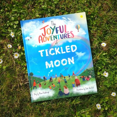 Personalised book cover of the Joyful Adventures of Tickled Moon
