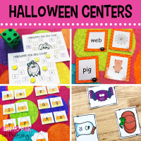 Halloween Activities for Math & Literacy Centers