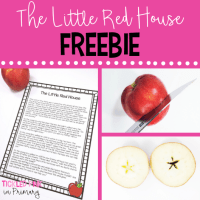 FREE little red house story and activity