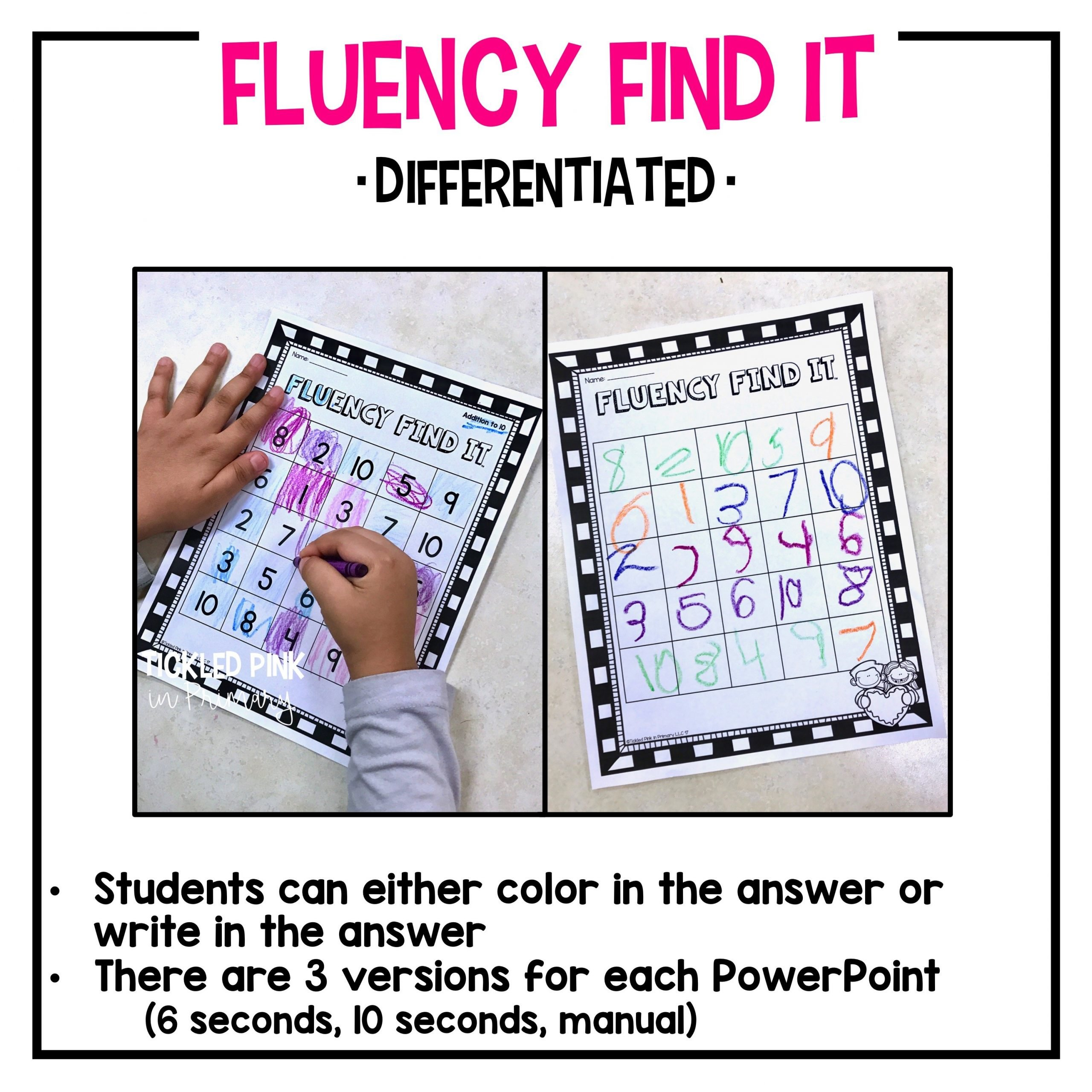 Dolch First Grade Sight Words Fluency Find It Tickled