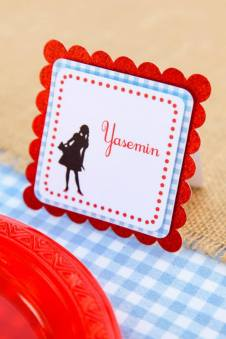 Name place cards-The wizard of oz party