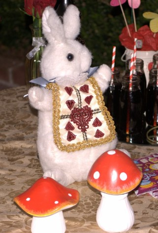 Rabbit alice in wonderland party decorations